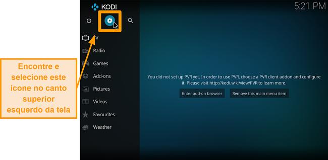 captura de tela como instalar o complemento do Kodi de terceiros, etapa 2, ícone da caixa de clique
