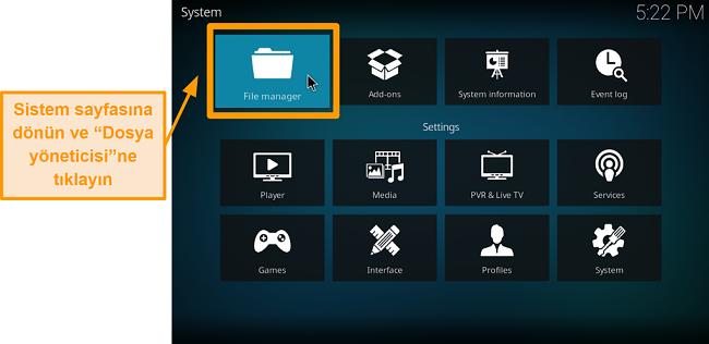 ekran görüntüsü üçüncü taraf kodi eklentisi nasıl kurulur 5. adım dosya yöneticisine tıklayın