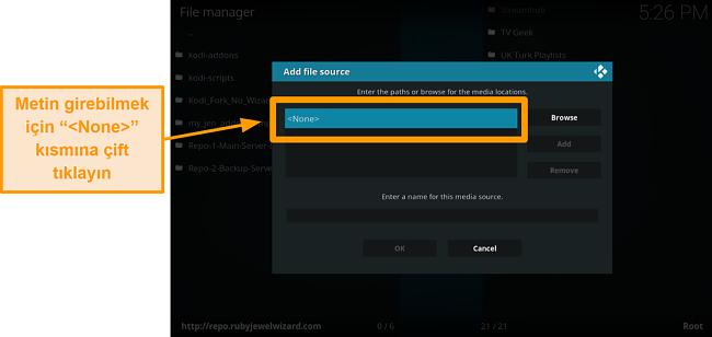 ekran görüntüsü üçüncü taraf kodi eklentisi nasıl kurulur 7. adım çift tıklama yok