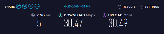 VPN Unlimited Speed test 1