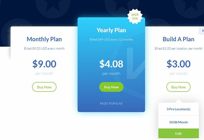 Windscribe Build a Plan