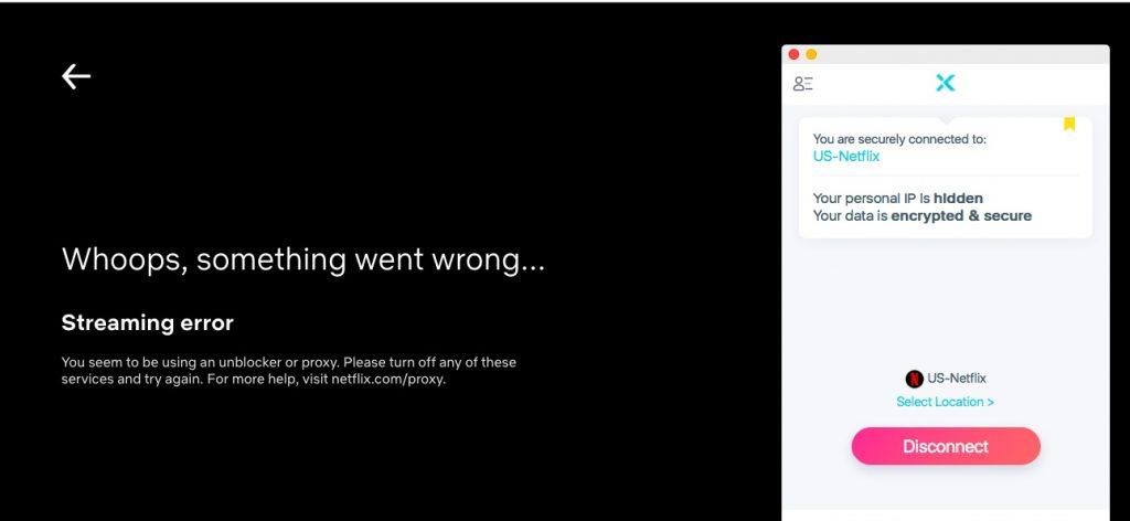 XVPN doesn't unblock US Netflix