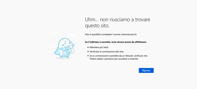 Connessione VPN interrotta