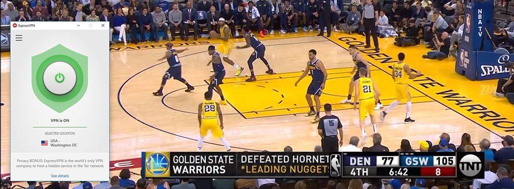 NBA on TNT with ExpressVPN