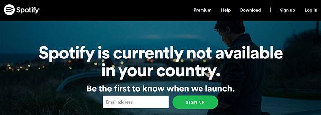 Spotify geo-block message vpn