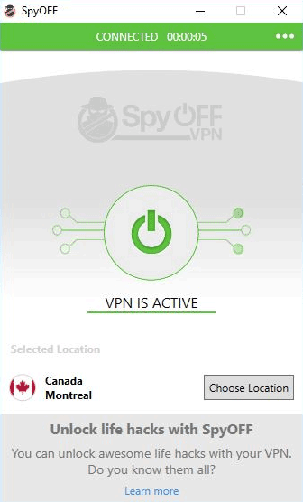 SpyOFF VPN servers