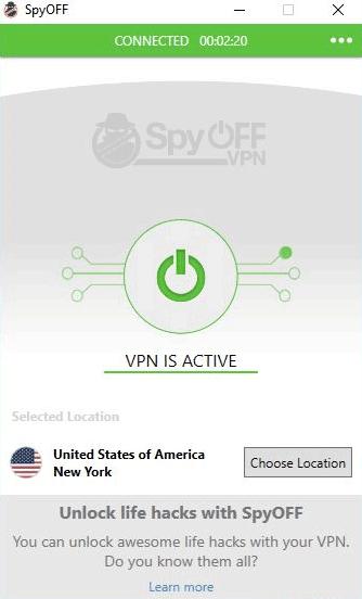 SpyOFF vpn US servers