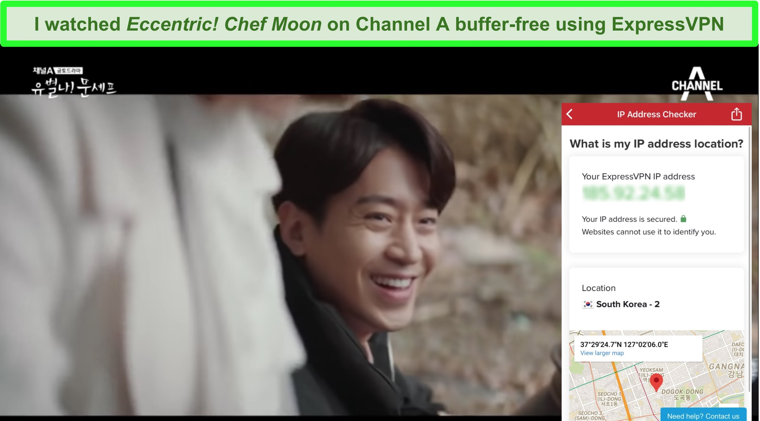 Screenshot of Eccentric! Chef Moon with ExpressVPN connected