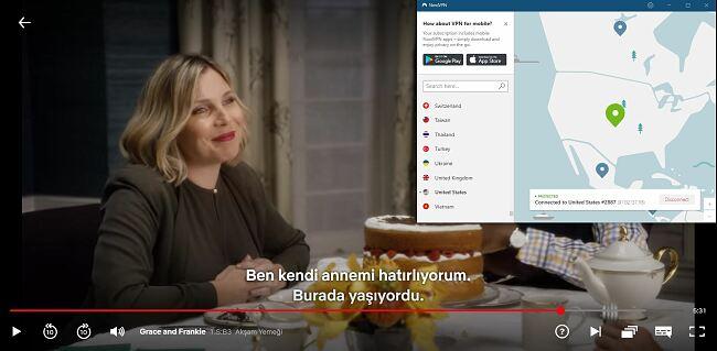 NordVPN engellemesinin ekran görüntüsü Netflix US