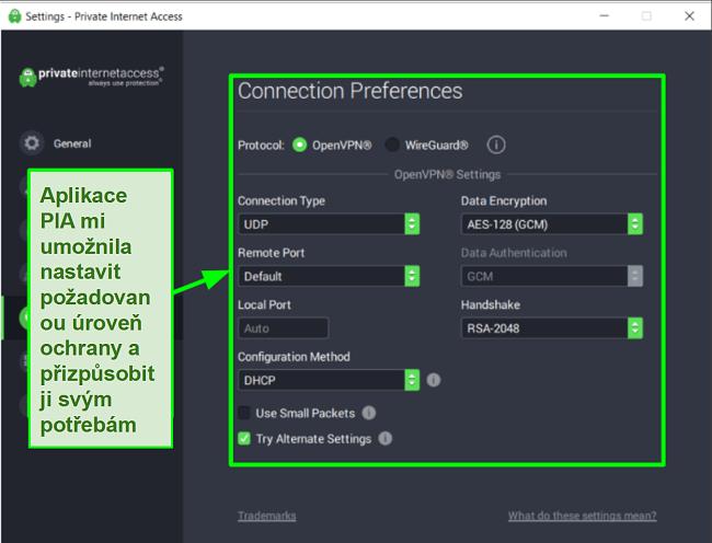 Screenshoty testů rychlosti Ookla s PIA připojeným k různým globálním serverům.