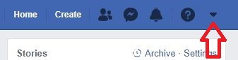 Delete Facebook account Step 1