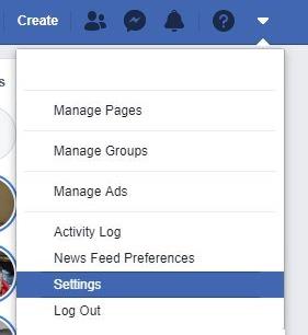 Delete Facebook account Step 2