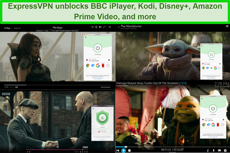 ExpressVPN unblocking BBC iplayer, kodi, disney plus, and amazon prime video