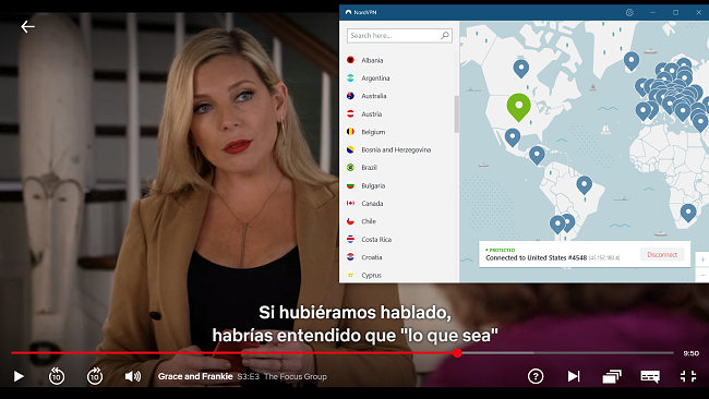 NordVPN trabaja con Netflix USA