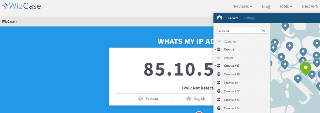 Get a Croatian IP Address with NordVPN