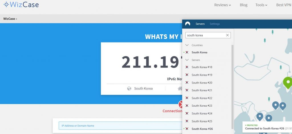 Get a South Korean IP Address with NordVPN