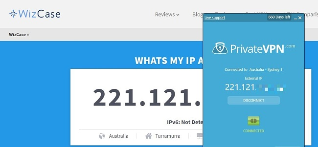 Get an IP Address in Australia with PrivateVPN