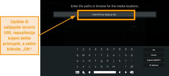 snimka zaslona kako instalirati kodi addon korak 8 vrsta izvora url