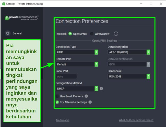 Tangkapan layar tes kecepatan Ookla dengan PIA yang terhubung ke server global yang berbeda.