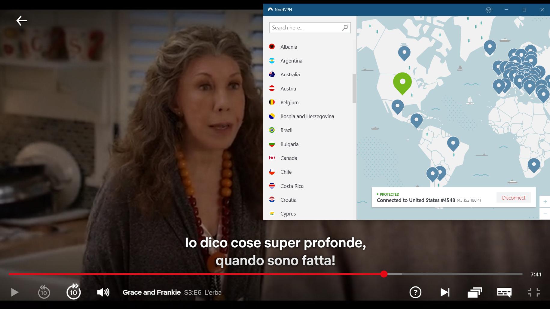 NordVPN lavora con Netflix USA