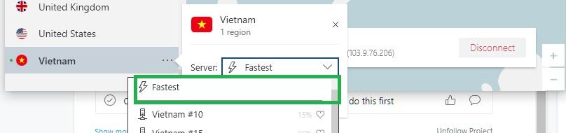 NordVPN tìm máy chủ nhanh nhất
