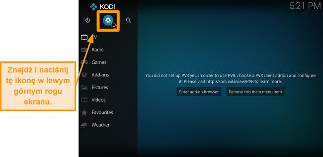 zrzut ekranu jak zainstalować dodatek kodi innej firmy krok 2 kliknij ikonę pola