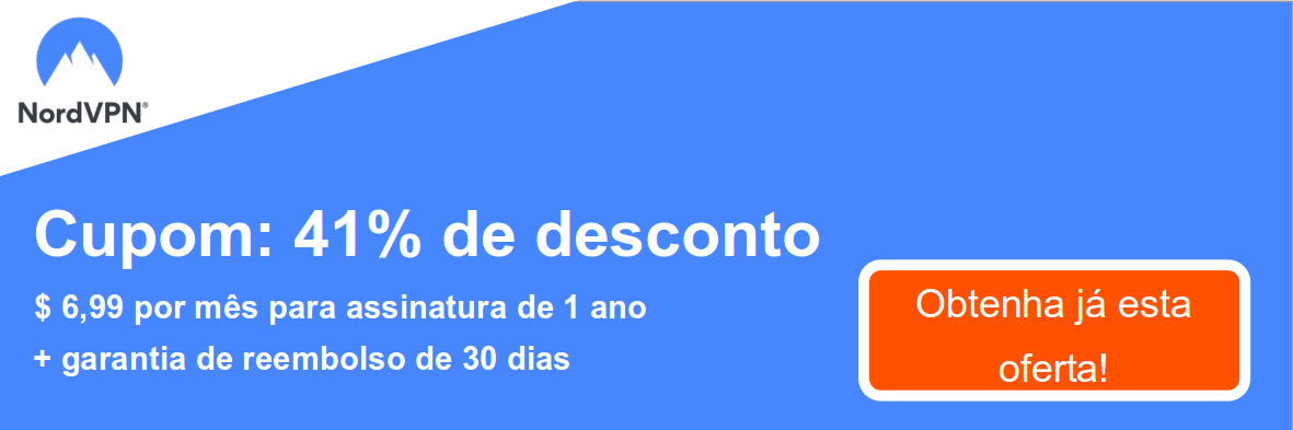 Graphic of a working NordVPN coupon offering a 41% discount which is $6.99 per month for a 1-year subscription and a 30 day money-back guarantee