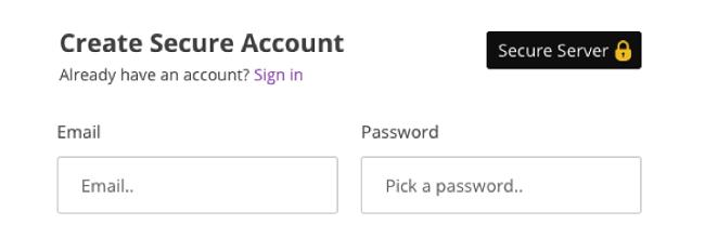 PrivateVPN Създаване на акаунт