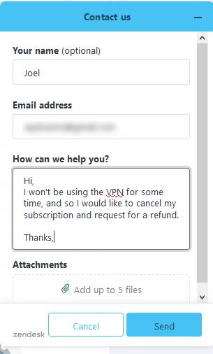 VPN Unlimited request refund