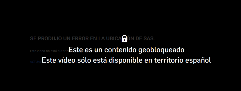 Telecinco geo-restrictions
