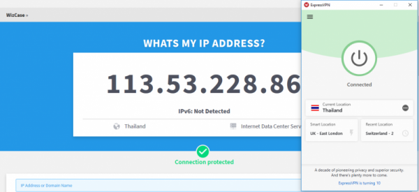 Get Thai IP address ExpressVPN