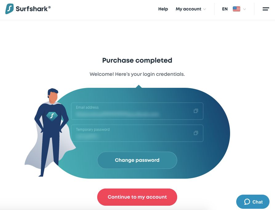 Screenshot of Surfshark's payment methods