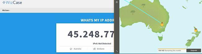 Tunnelbear Australia IP address