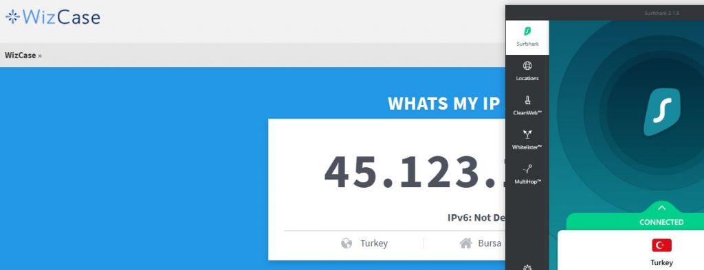 Turkish IP Address Hack with Surfshark