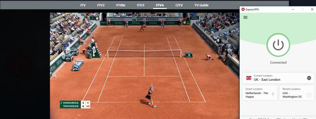 Watch French Open with ExpressVPN
