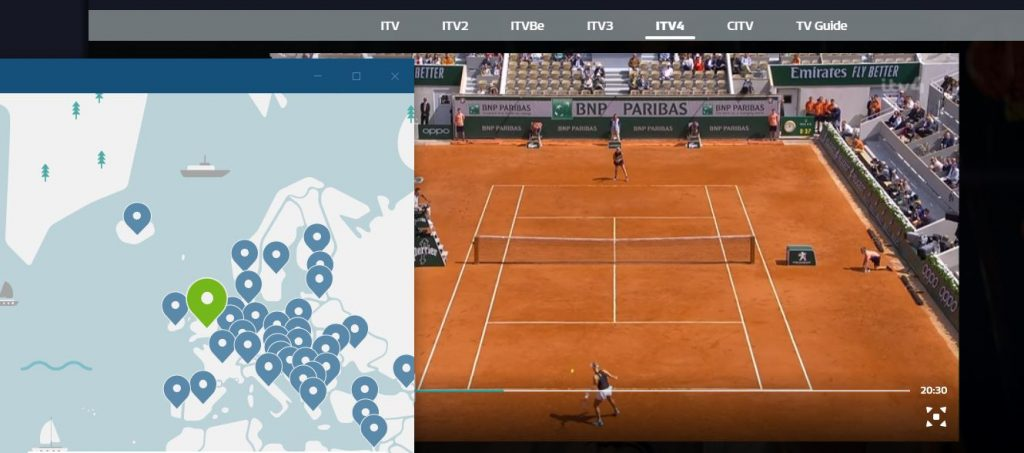 Watch French Open with NordVPN