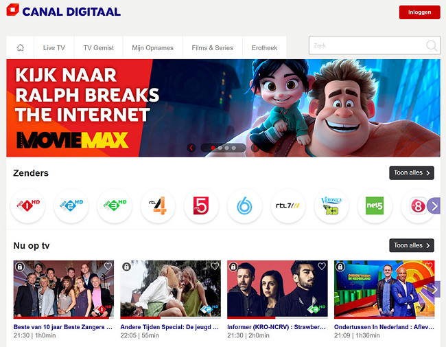 Viewing CanalDigitaal Programming Abroad