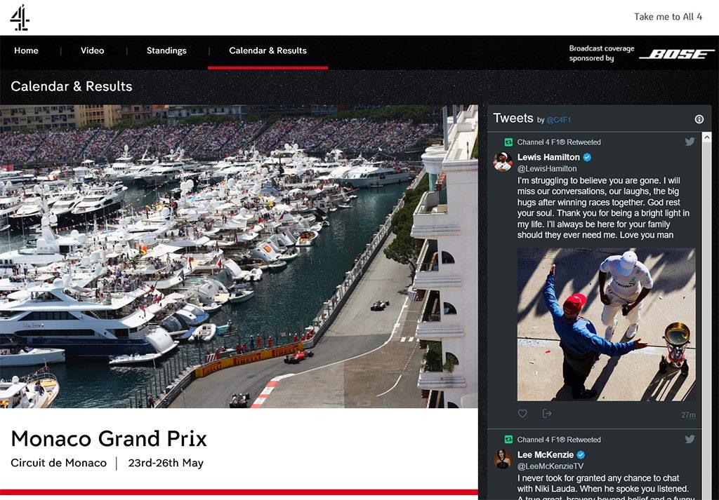 Channel 4 watch Monaco Grand Prix