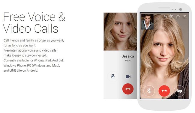 Line free voice video calls
