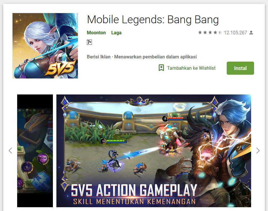 Mobile Legends game play with vpn
