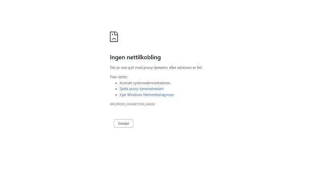 VPN-tilkoblingen droppet