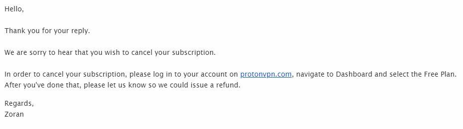Proton VPN email 2