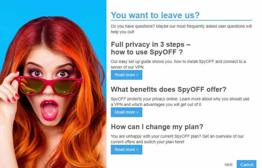 Cancel SpyOFF VPN and Get a Refund
