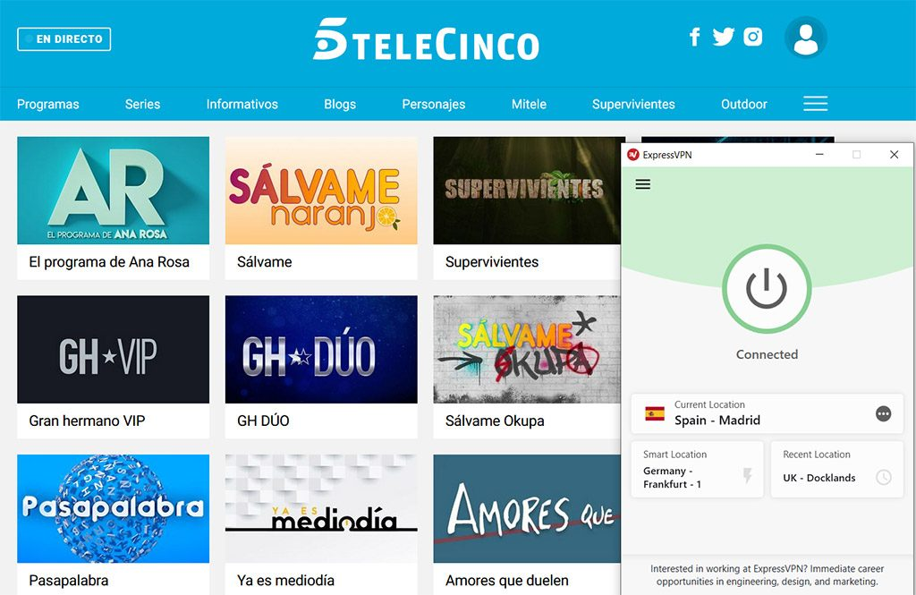 Telecinco watch online best vpn