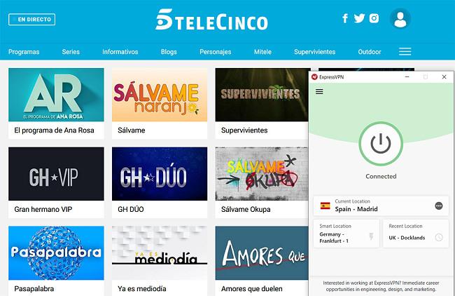 Telecinco watch online best vpn