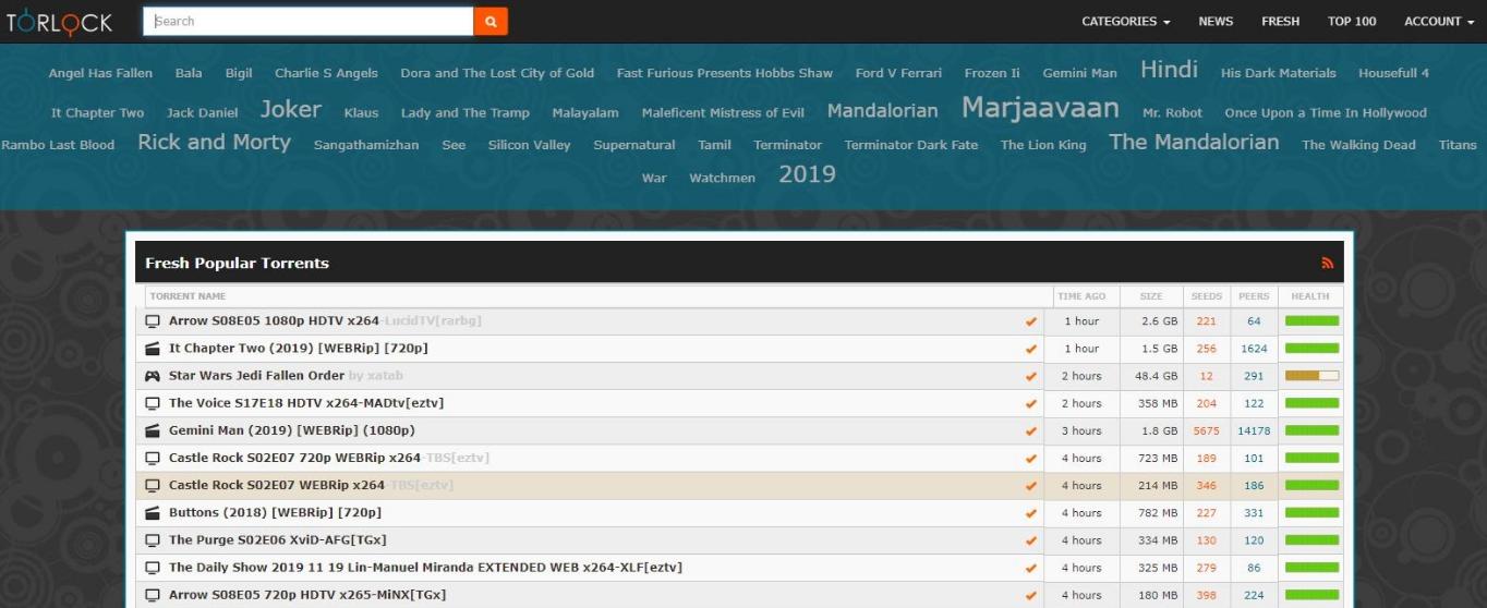 Screenshot of TorLock landing page.
