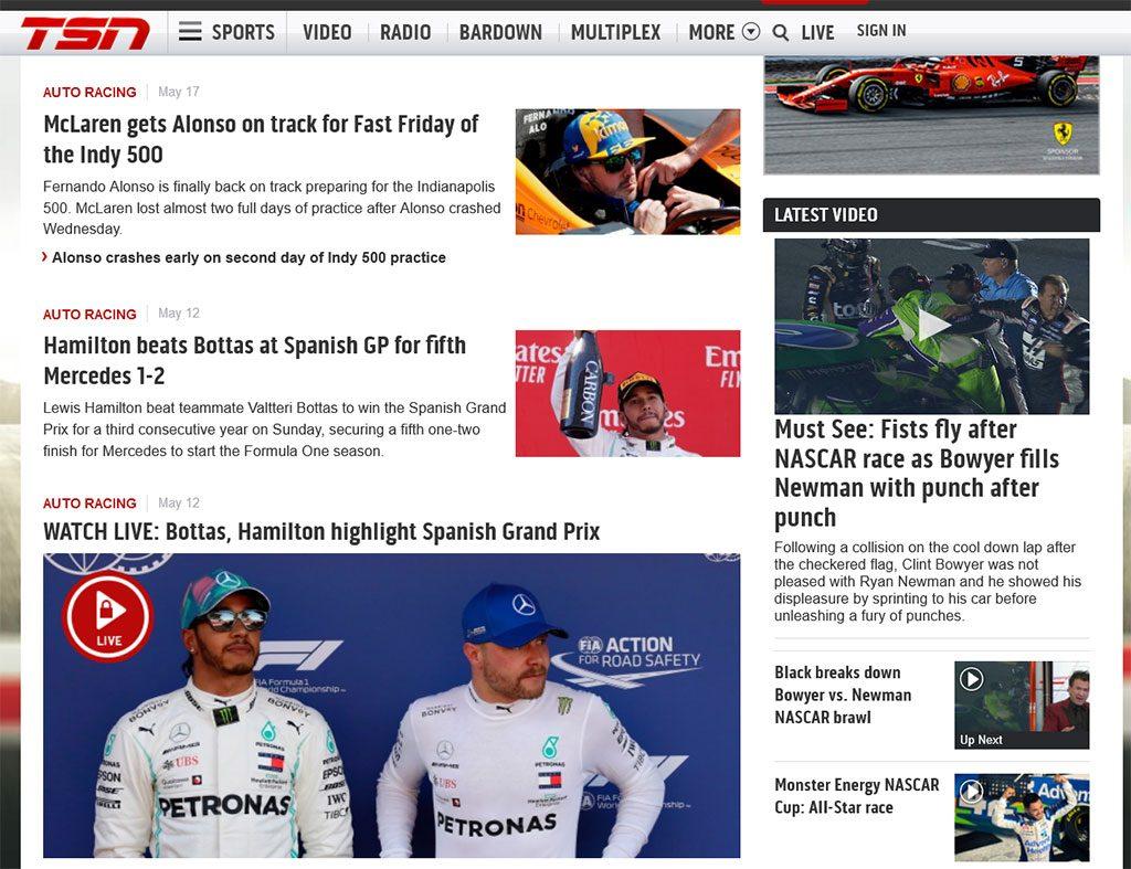 TSN watch the Monaco Grand Prix
