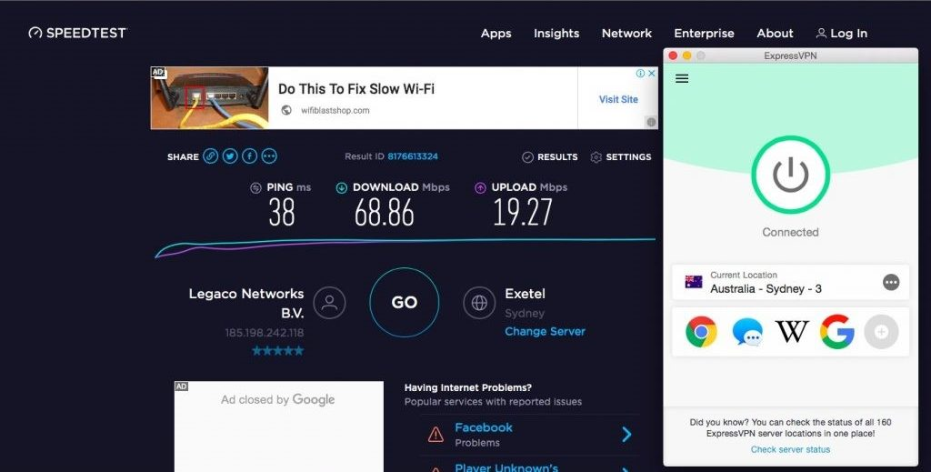 Using The Sydney, Australia Server