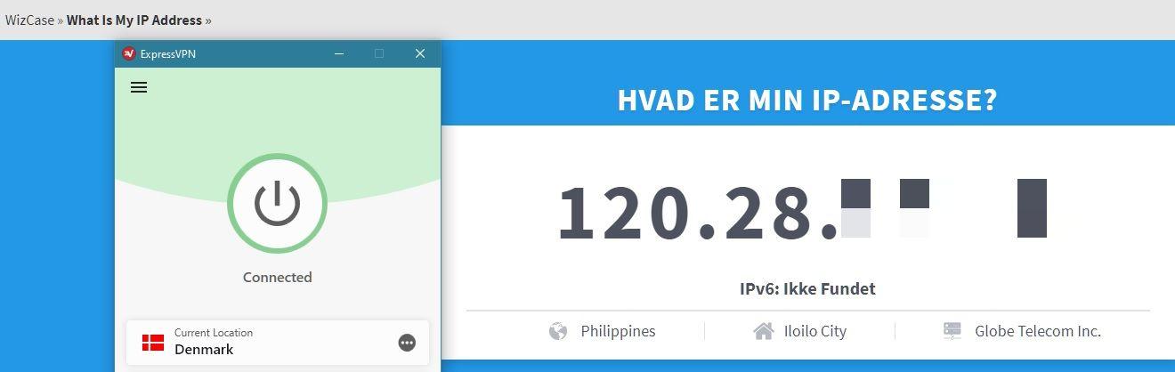 ExpressVPN har ændret min IP-adresse