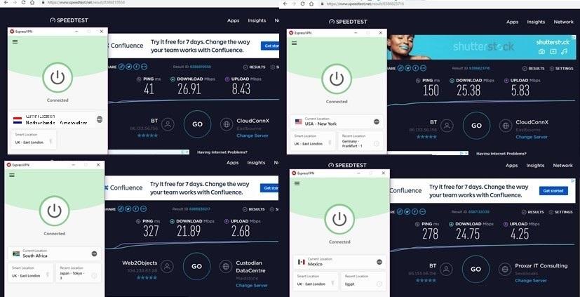 ExpressVPN-snelheidstests